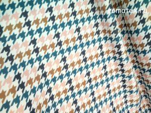 Ткань неопрен «гусиная лапка» цвет синий