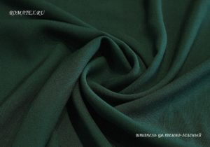 Ткань штапель цвет тёмно-зелёный