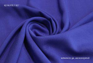 Ткань штапель цвет васильковый