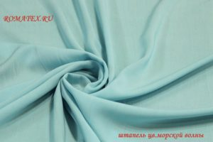 Ткань штапель цвет морской волны