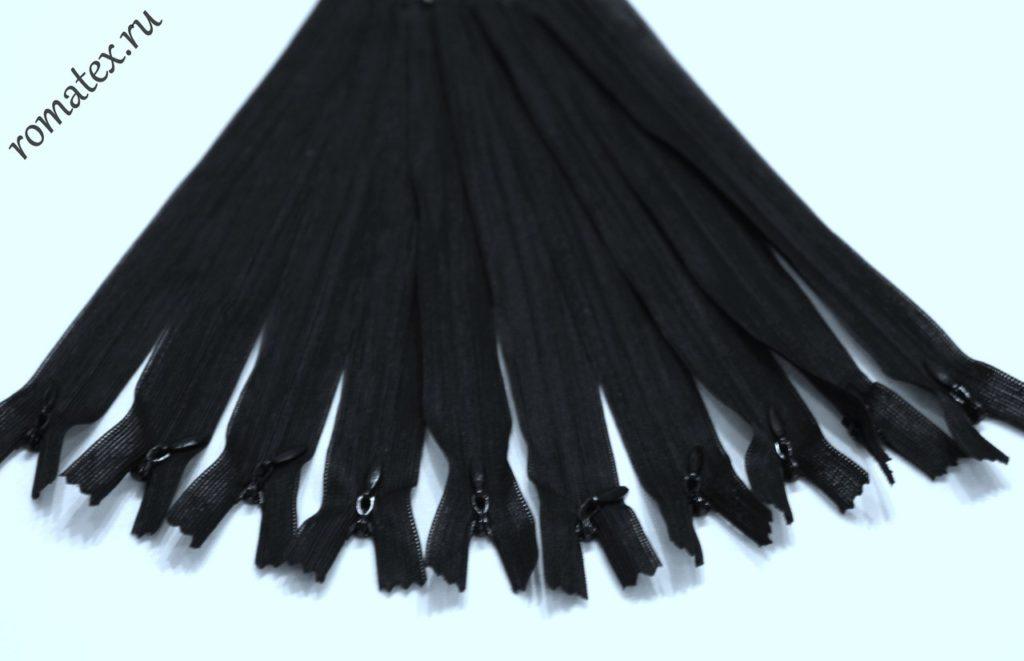 Молния потайная цвет чёрный 20 см