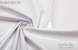 Ткань кожзам лаке цвет белый