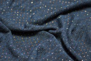 Ткань ангора с люрексом цвет синий