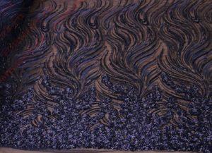 Ткань пайетки декор купон цвет черный