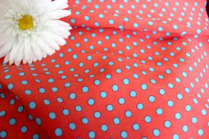 Ткань штапель горох цвет красный