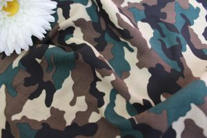 Ткань штапель камуфляж цвет коричневый