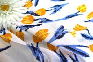 Ткань штапель тюльпан жёлтый