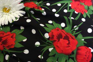 Ткань поплин принт d224 цвет чёрный