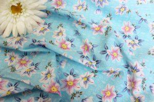 Ткань поплин принт d234 цвет голубой