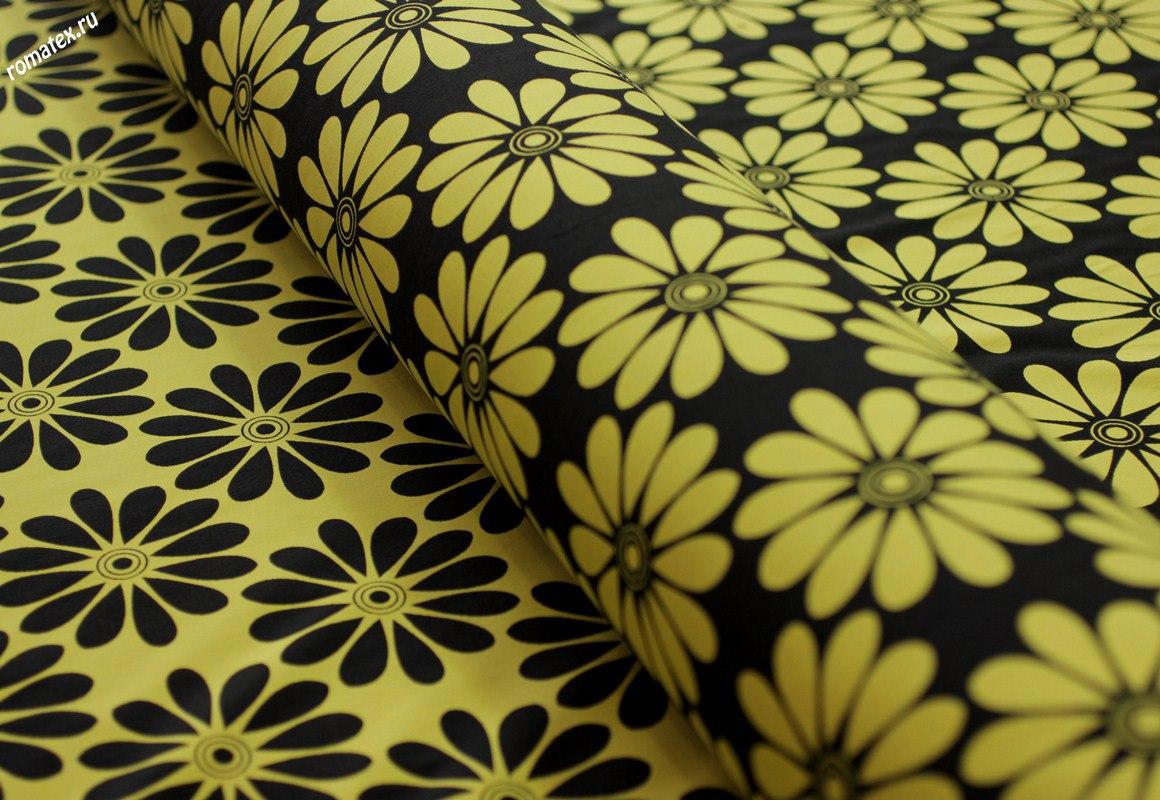 Жаккард «Ромашки» цвет жёлтый