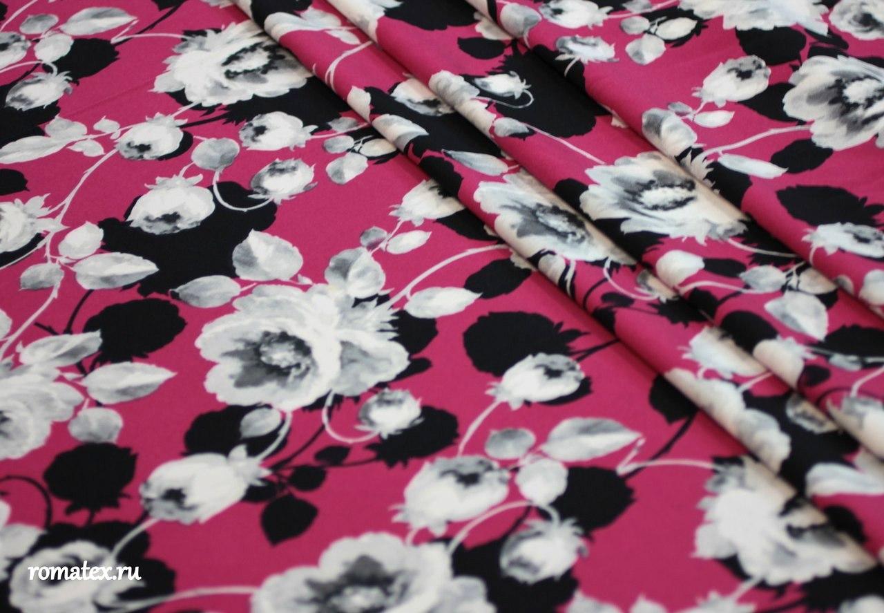 Барби принт розы цвет фуксия