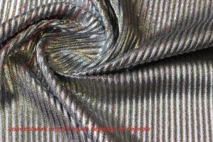 Ткань голограмма плиссе цвет серебро на черном