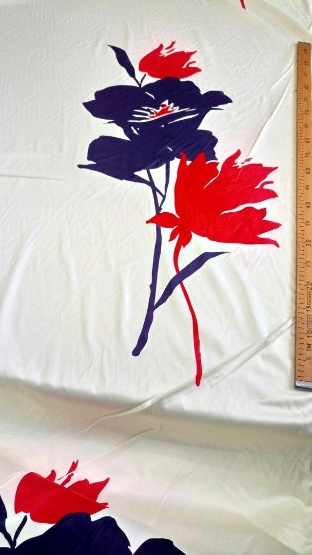 Ткань хлопок принт цветы