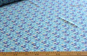 Ткань штапель вензель джинс голубой