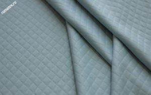 Ткань трикотаж стежка ромб цвет голубой