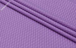 Ткань трикотаж стежка ромб цвет сиреневый