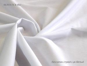 Ткань бенгалин цвет белый