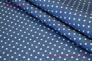 Ткань джинс горох цвет голубой