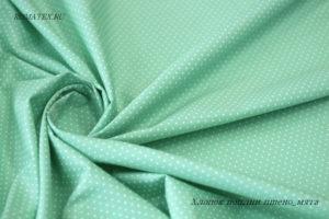 Ткань хлопок поплин пшено цвет мята