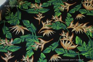 Ткань штапель тропики цвет черный