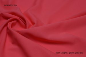 Ткань пляжная креп шифон цвет красный