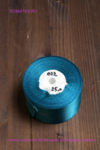 Лента атласная 50мм цвет 022 темно бирюзовый