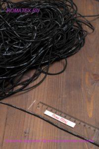Резинка круглая брендированная цвет черный