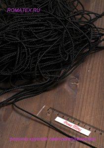 Резинка круглая светоотражающая цвет черный