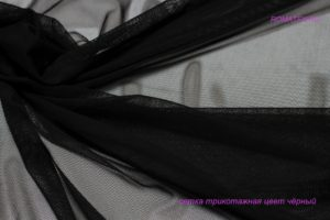 Ткань сетка трикотажная цвет черный