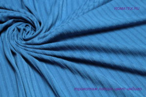 Ткань трикотаж лапша цвет индиго