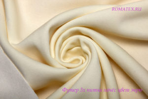 Ткань футер начёс качество компак пенье цвет экрю