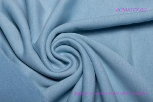 Ткань футер начёс качество компак пенье цвет голубой
