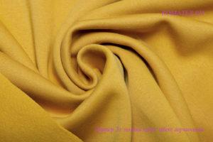 Ткань футер начёс качество компак пенье цвет горчичный