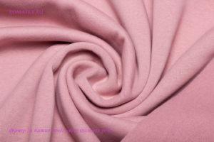 Ткань футер начёс качество компак пенье цвет пыльная роза