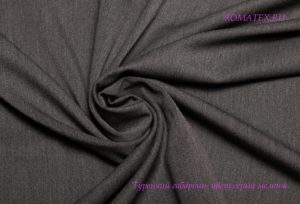 Ткань турецкий габардин цвет серый меландж