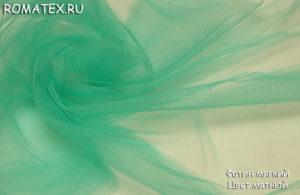 Ткань фатин мягкий цвет мятный
