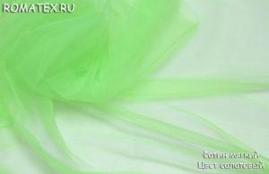 Ткань фатин мягкий цвет салатовый