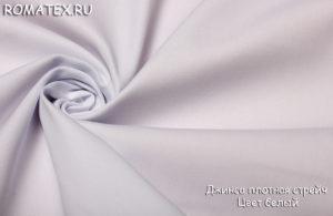 Ткань джинс плотный стрейч цвет белый