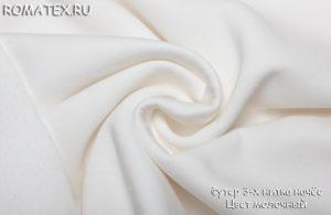 Ткань футер 3-х нитка начес качество пенье цвет молочный