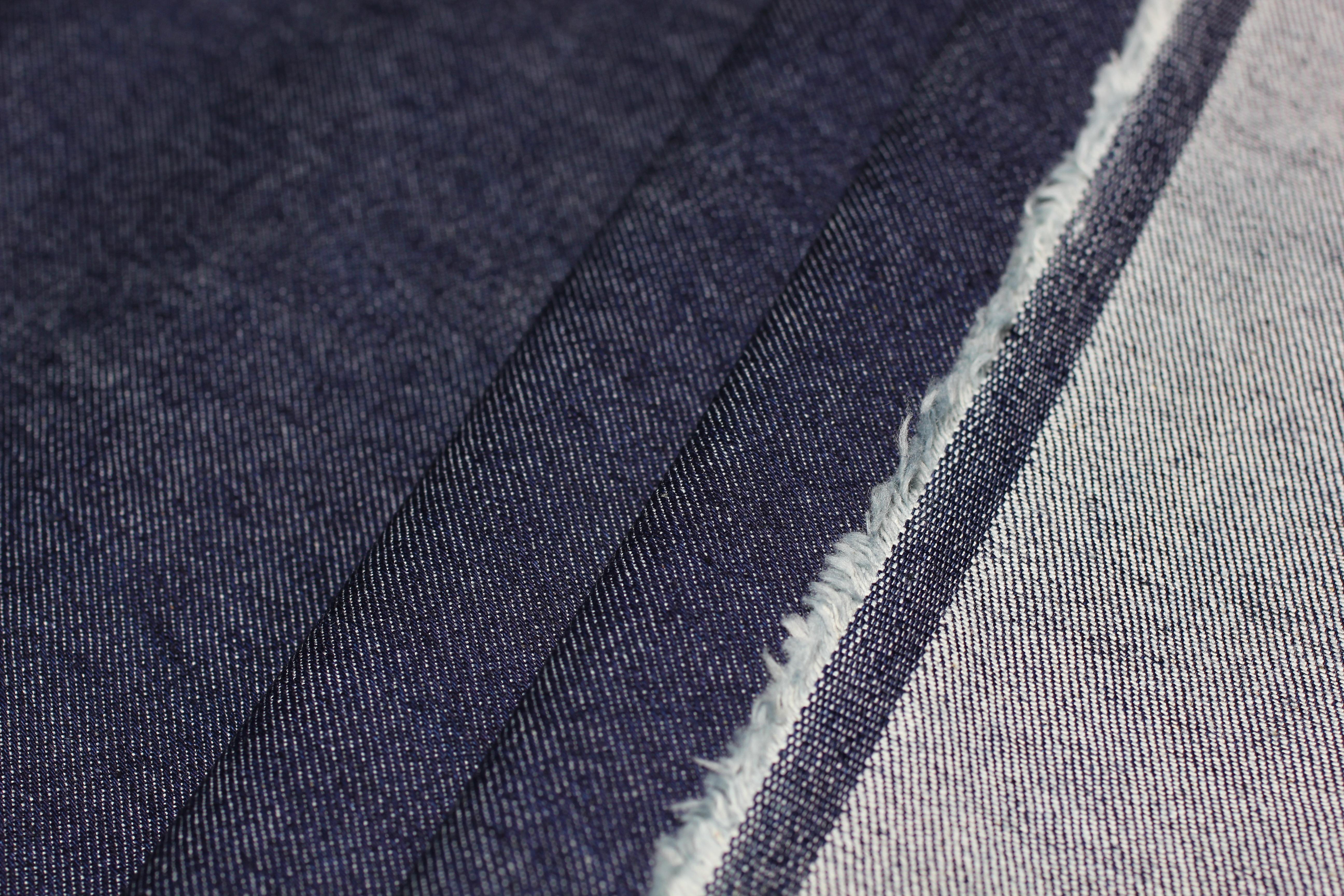 Джинс плотный цвет темно-синий