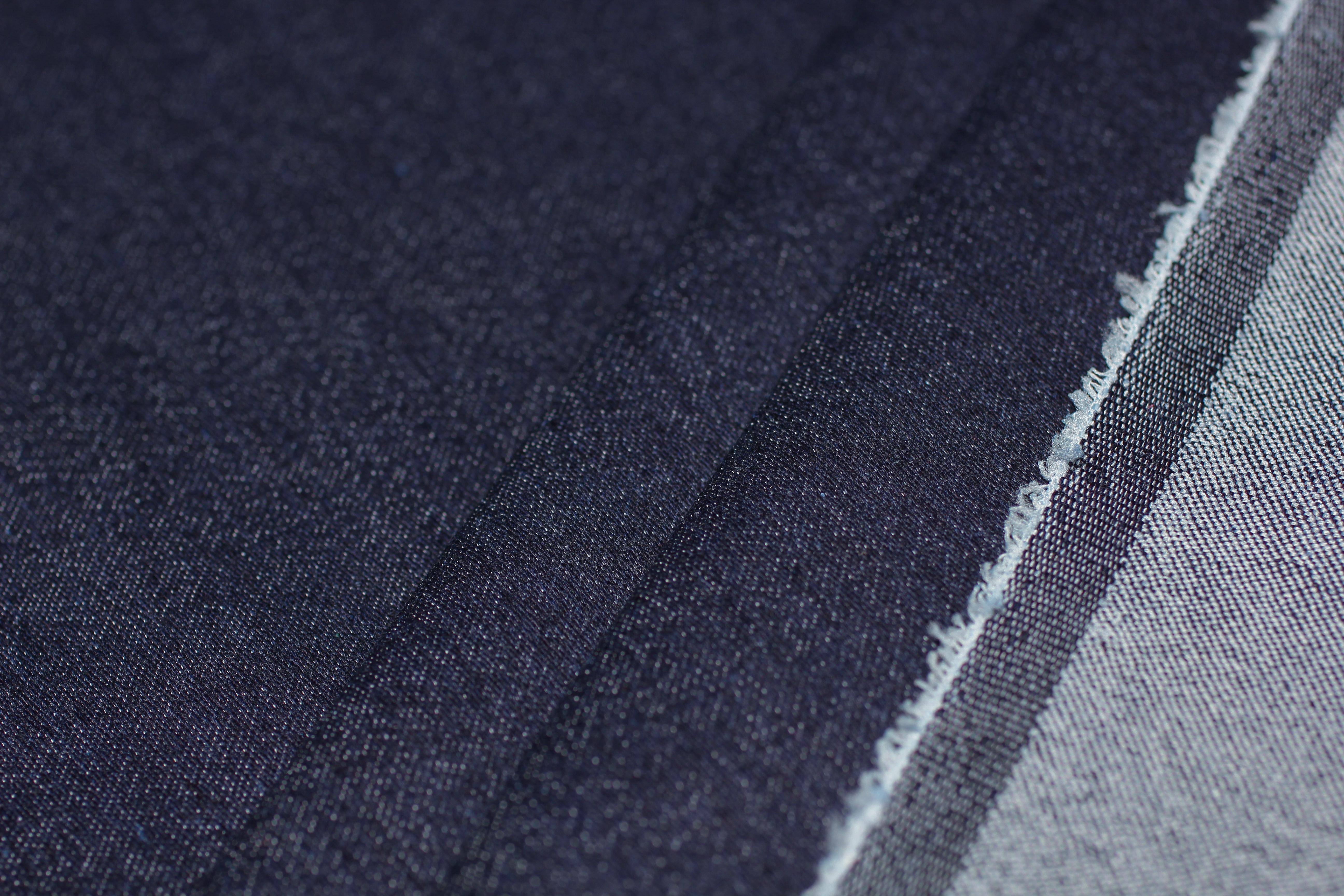 Джинсовая, плотный стрейч , темно-синий