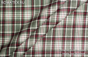 Ткань обивочная для дивана клетка «шотландка» ткань костюмная