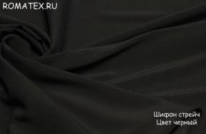Ткань шифон стрейч цвет черный