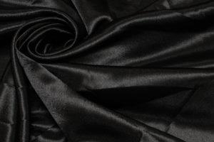 Ткань креп сатин цвет черный