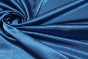 Ткань креп сатин цвет синий