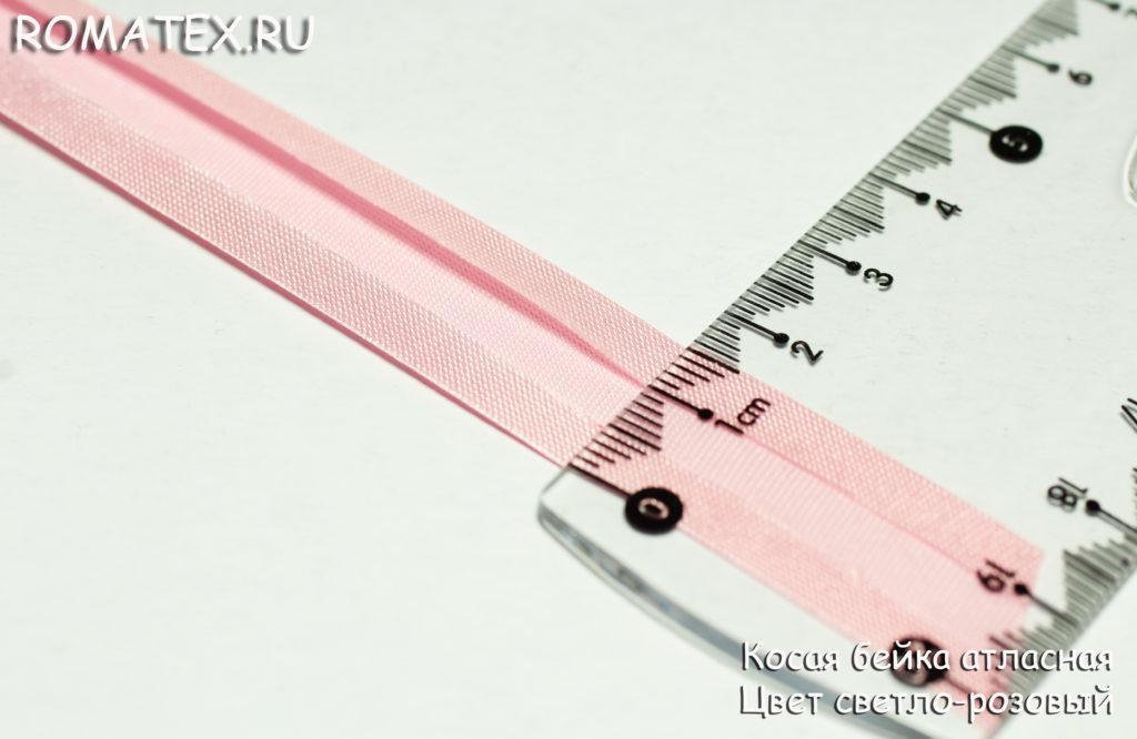 Косая бейка цвет светло-розовый