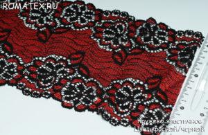 Кружево эластичное цвет красный,черный