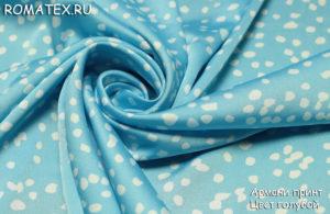 Ткань армани принт цвет голубой