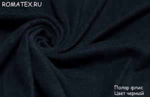 Ткань полар флис цвет черный
